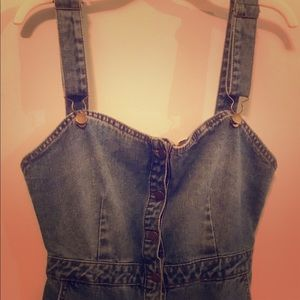Overall Jean Dress